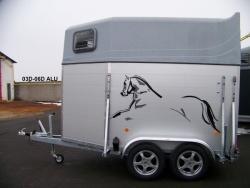 Přepravník pro dva koně ALU